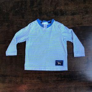 Janie and Jack blue/white striped shirt, 18-24m